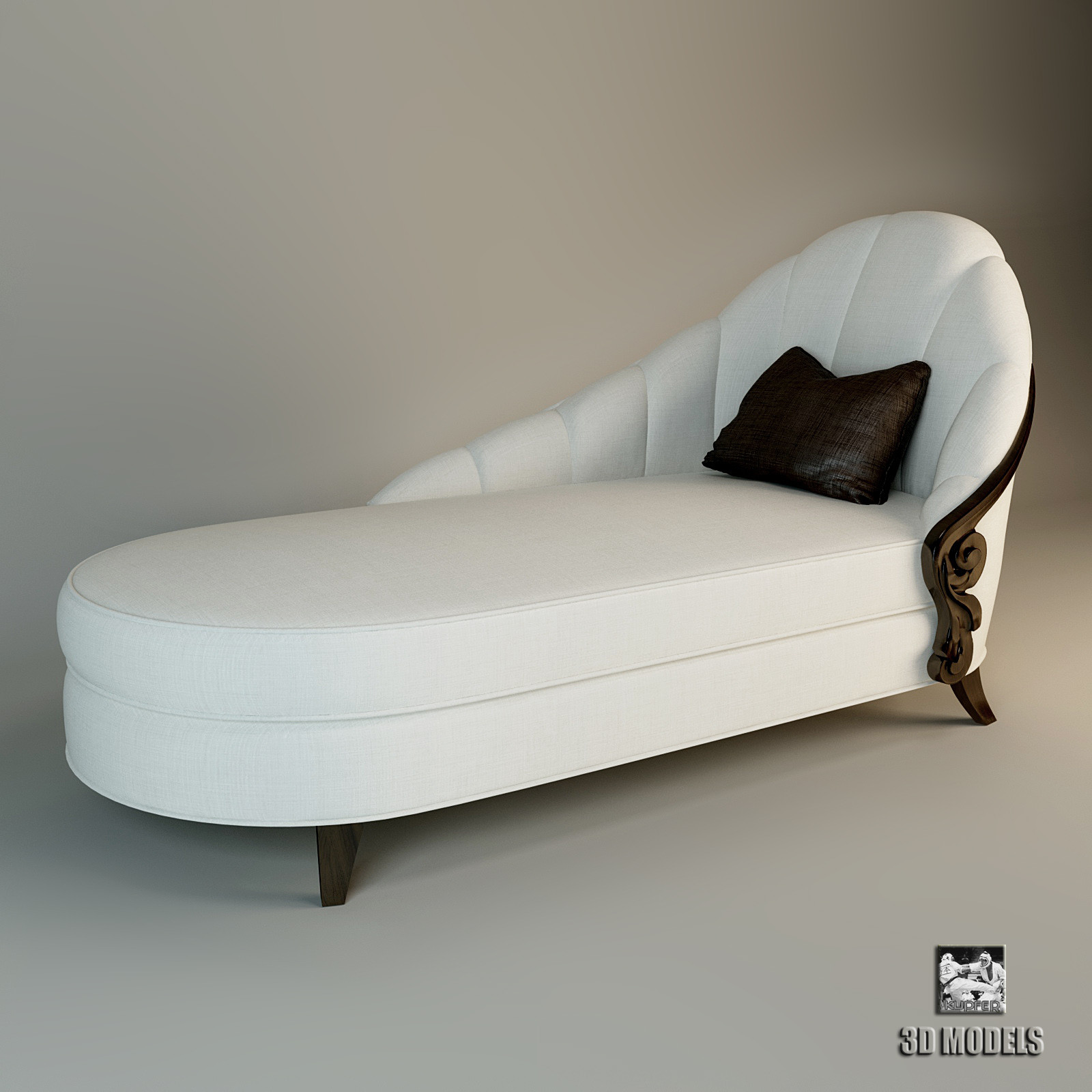 3d model christopher guy chaise lounge for Annabelle chaise