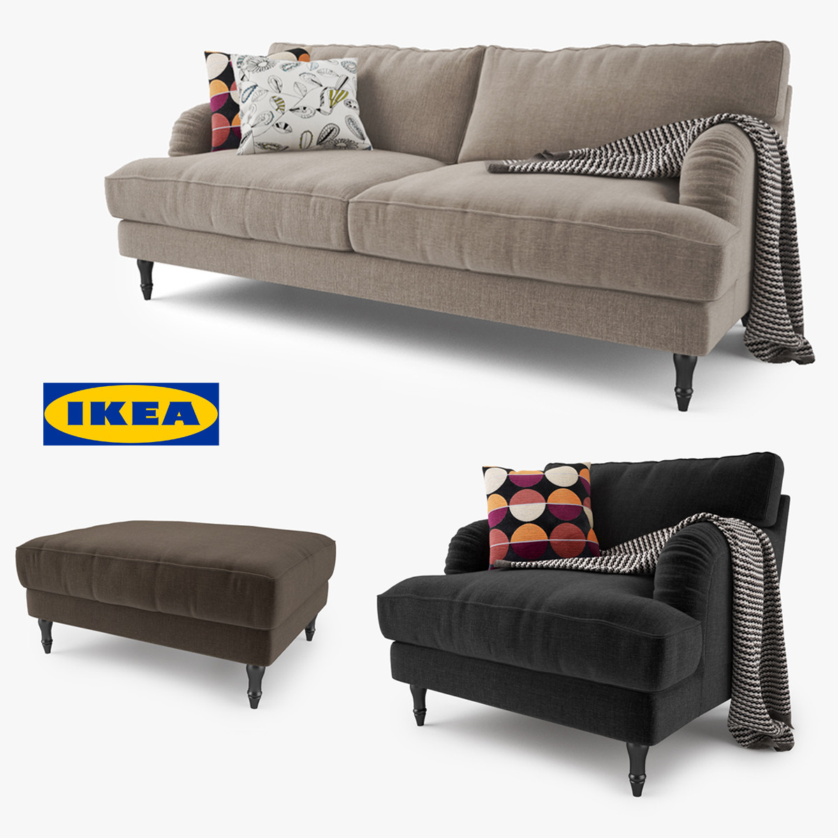 ikea sch slong stocksund design inspiration f r die neueste wohnkultur. Black Bedroom Furniture Sets. Home Design Ideas