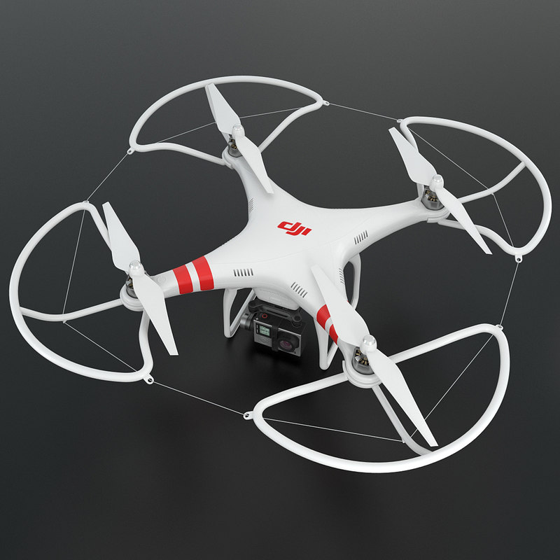 DJI Phantom 2 Quadcopter with GoPro 4 Camera Without Remote Control