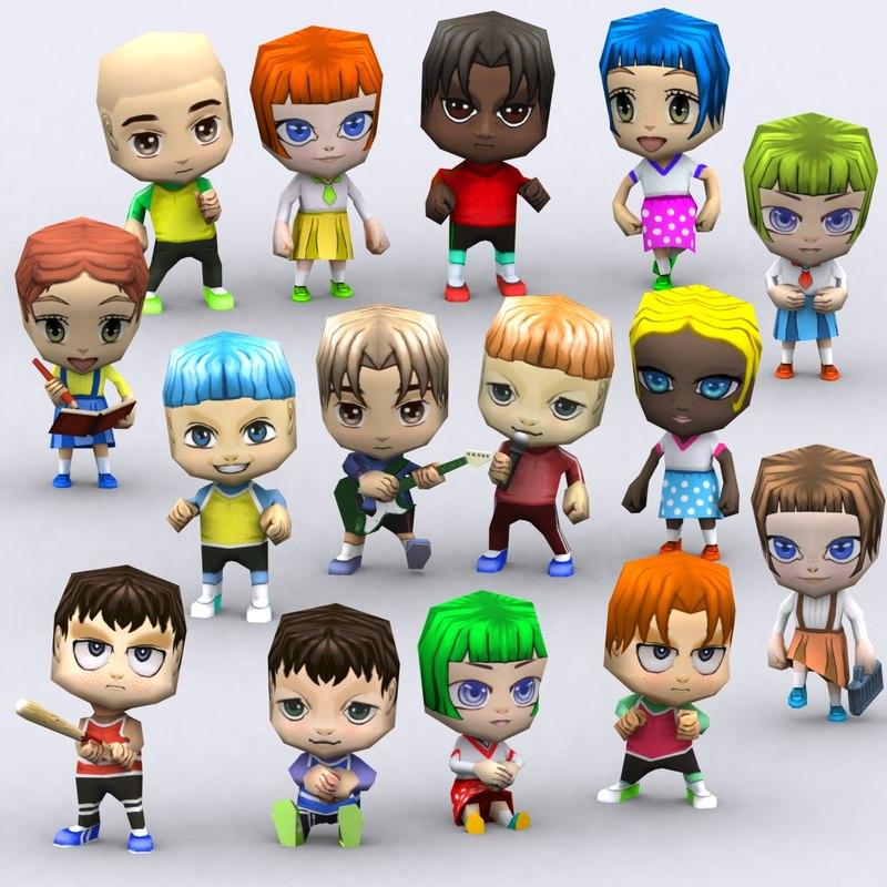 3DRT-Chibii people kids