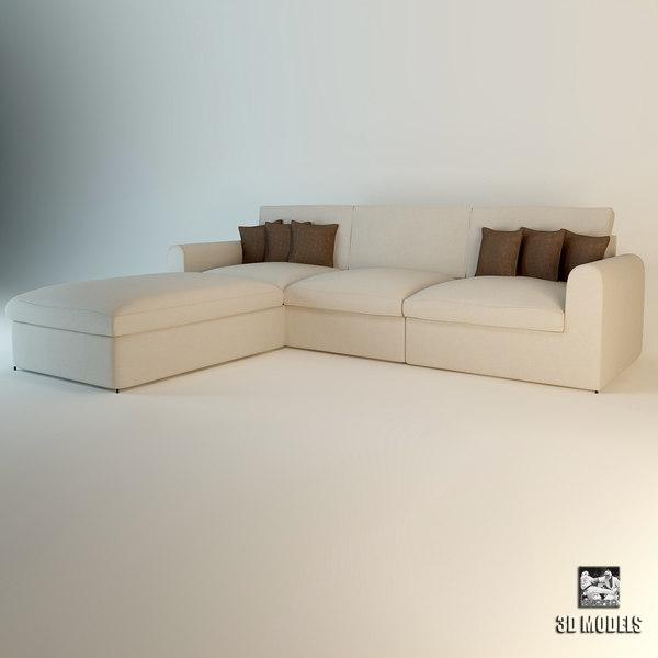 Eichholtz Sofa Corner Miami 3D Models