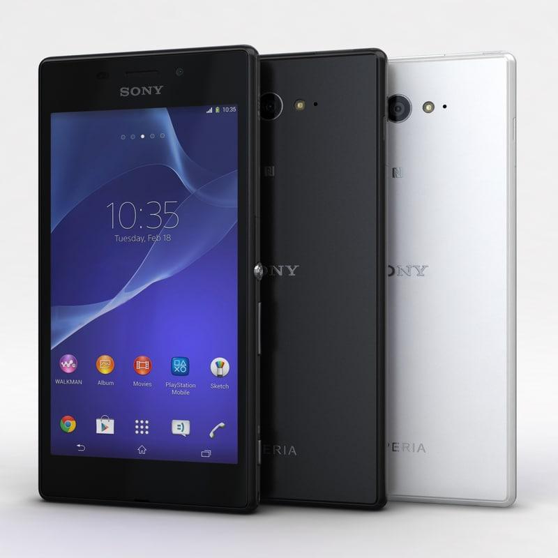 Sony Xperia M2 Aqua Black & White
