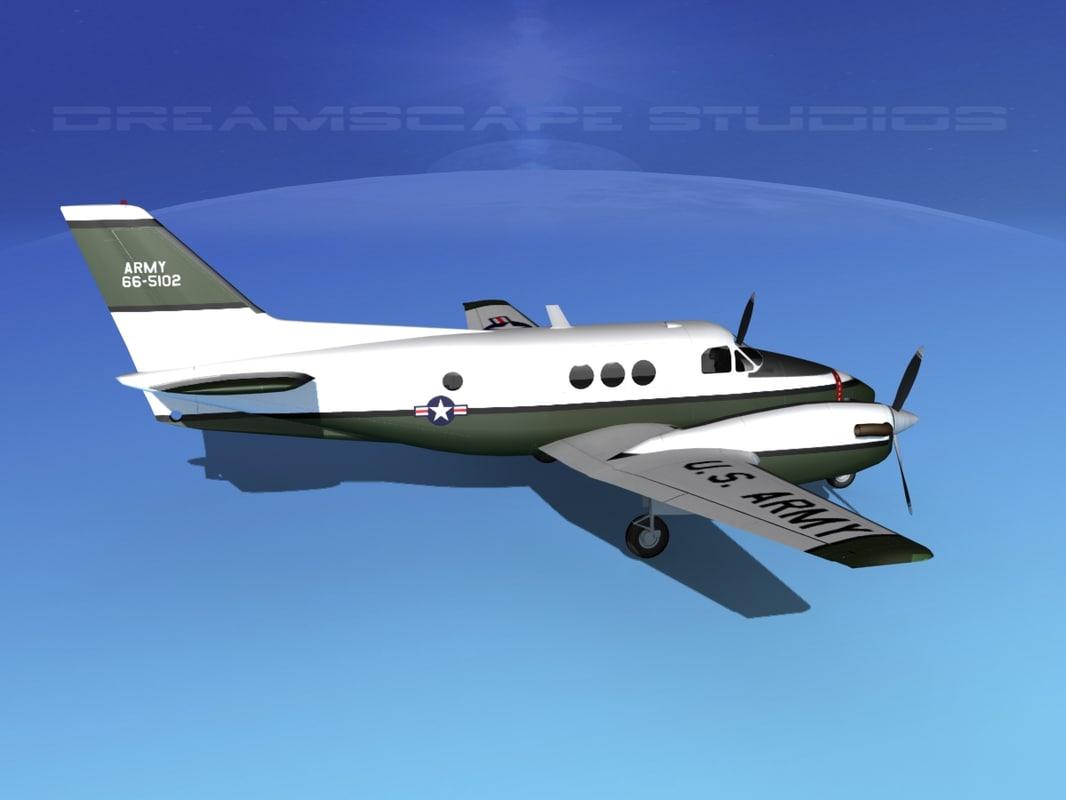 Beechcraft C-6 Transport US V01 Army