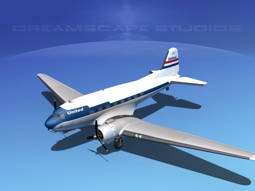 Douglas DC-3 United Air Lines0100.jpg
