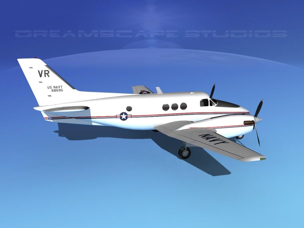 Beechcraft C-6 Transport V07 US Navy