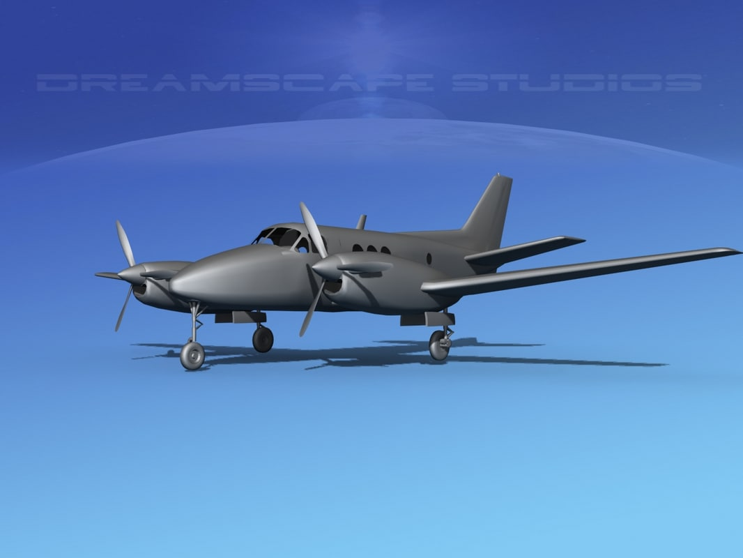 propellers vbm beechcraft c 6 3d model