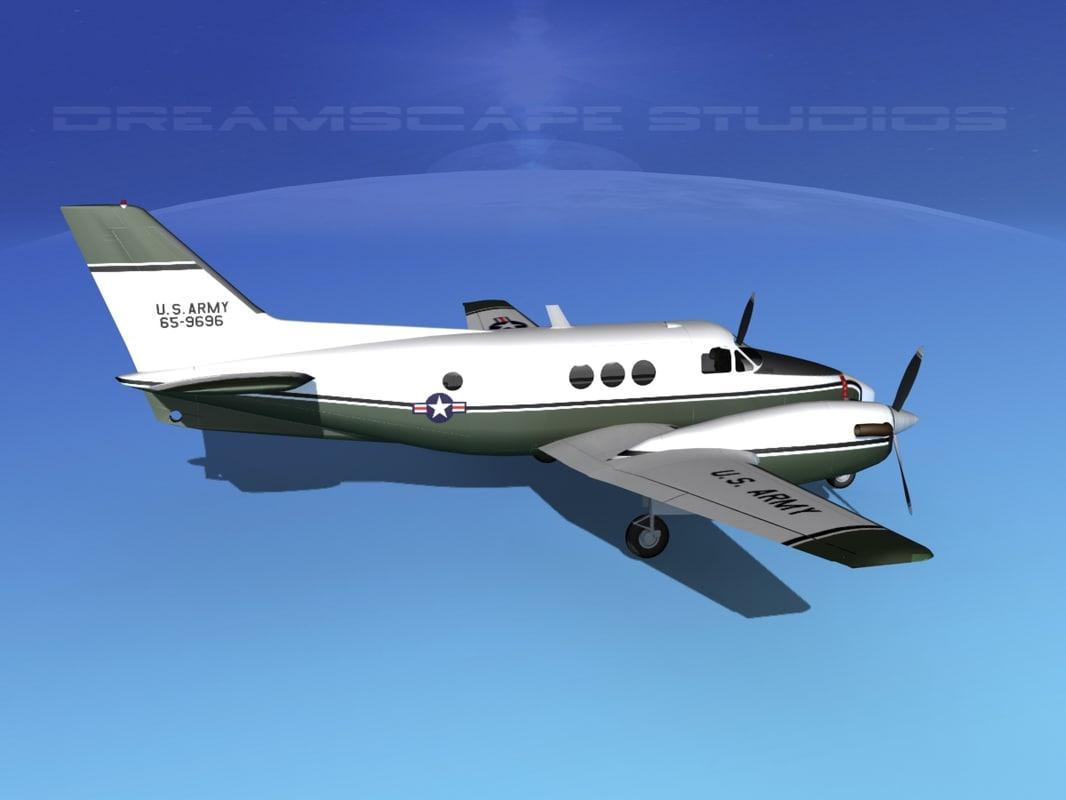 Beechcraft C-6 Transport V02 US Army