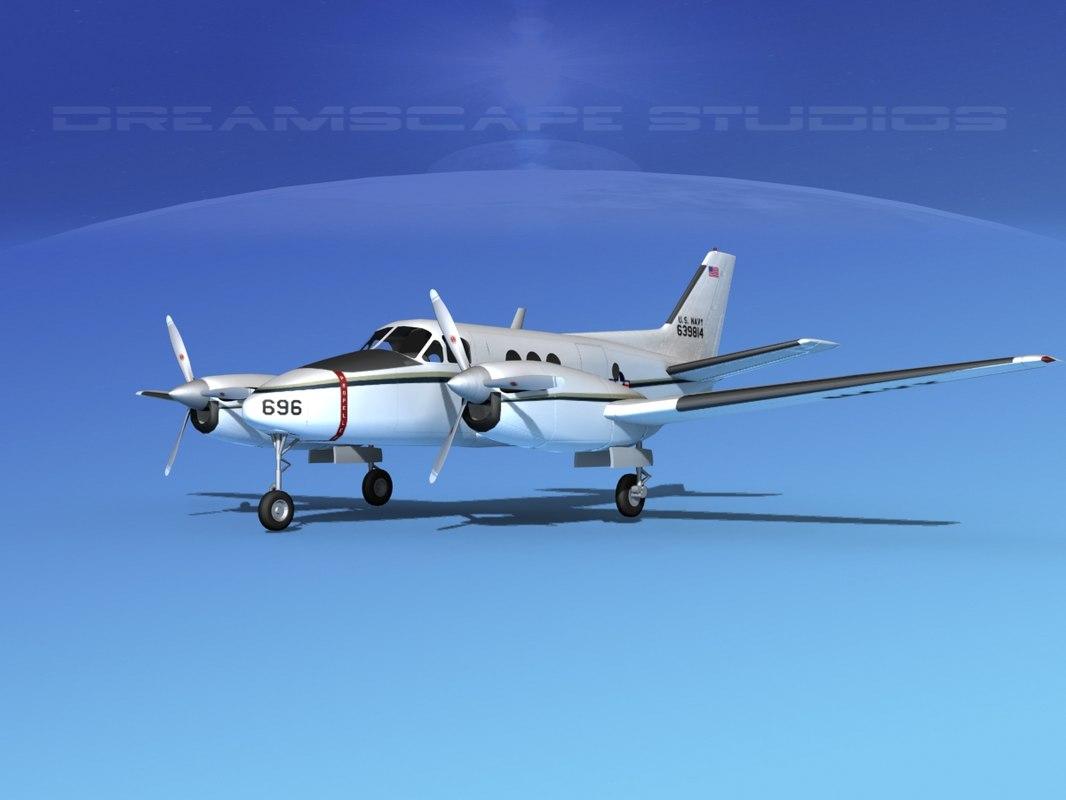 Beechcraft C-6 Transport V03 US Navy