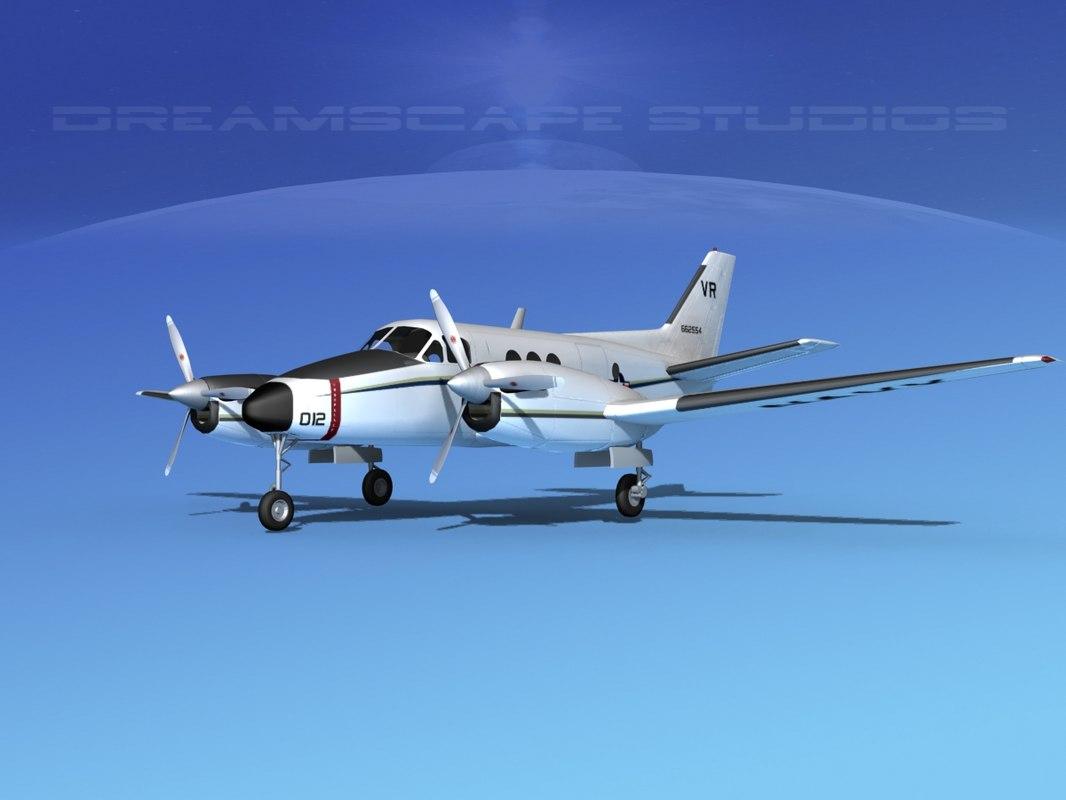 Beechcraft C-6 Transport V05 US Navy