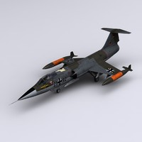 f 104 3D models