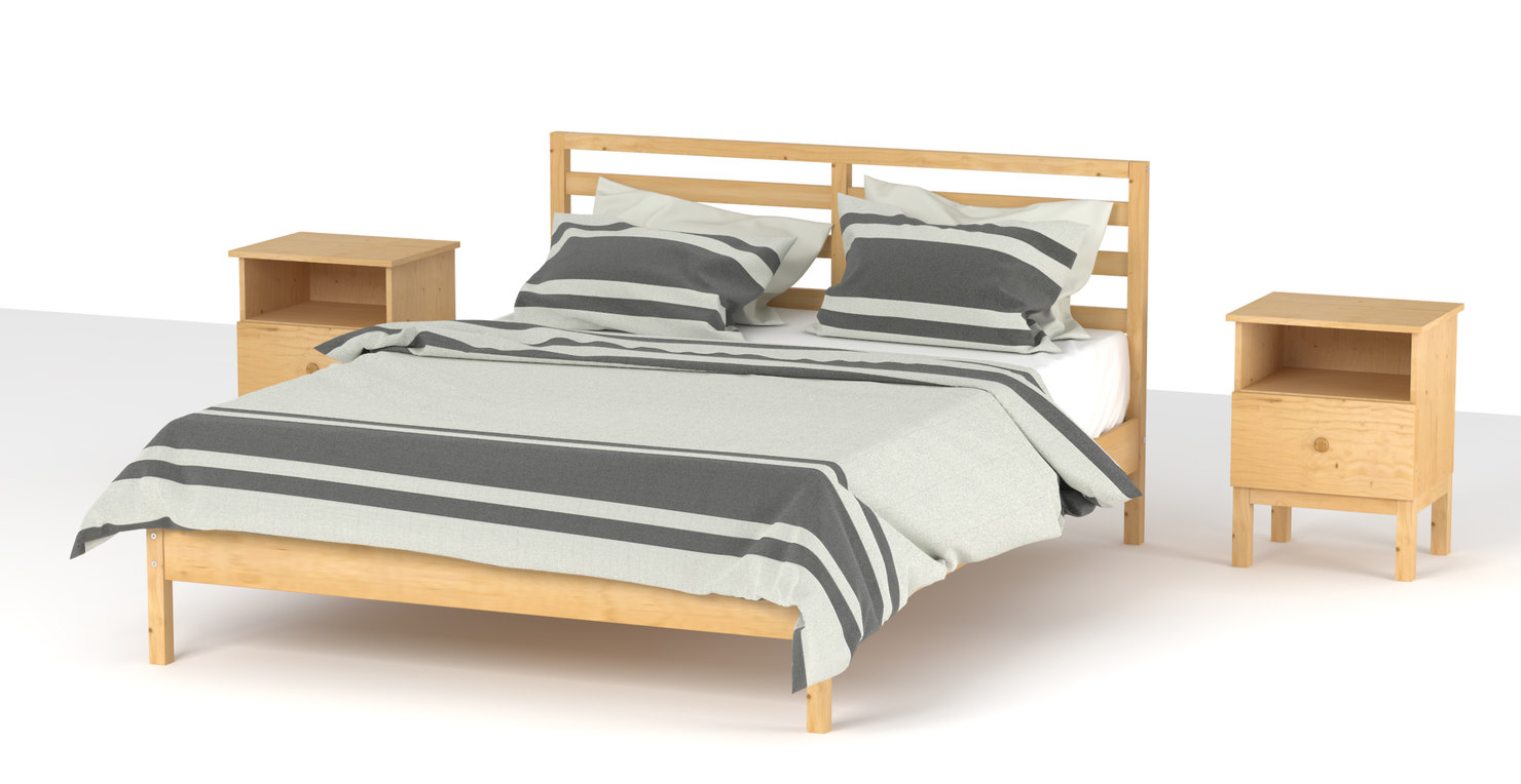 dxf ikea tarva bed. Black Bedroom Furniture Sets. Home Design Ideas