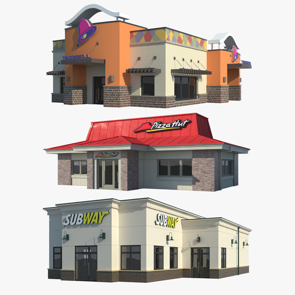 Fast Food Collection 003 3D Models