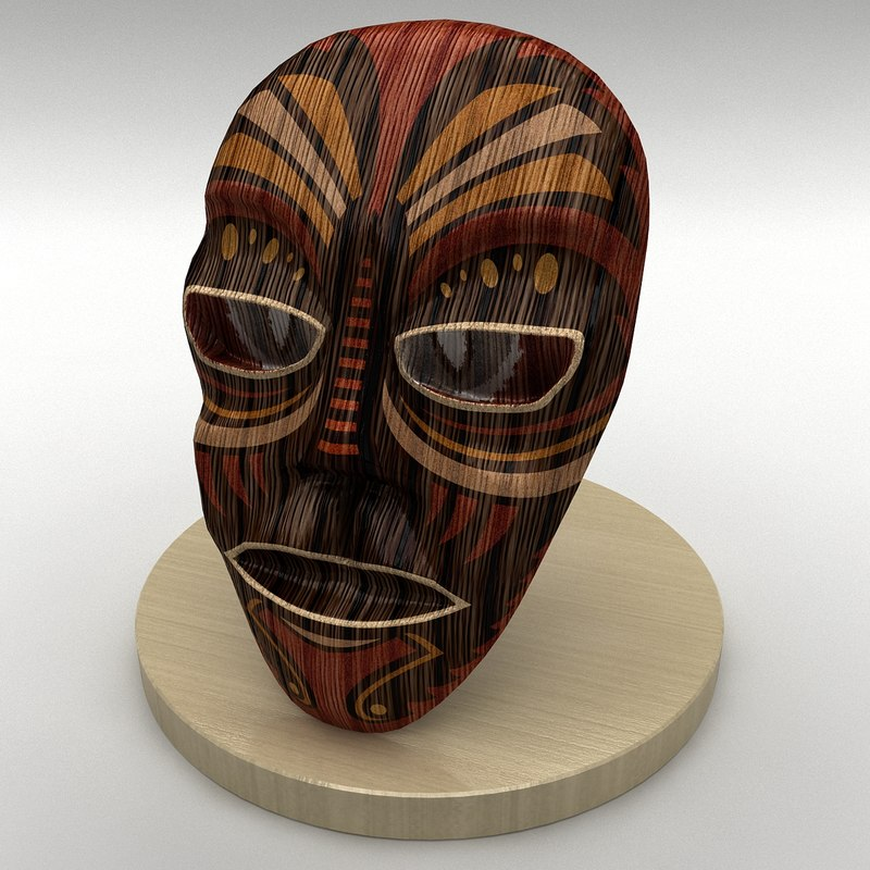 3d model of mask antique ornaments