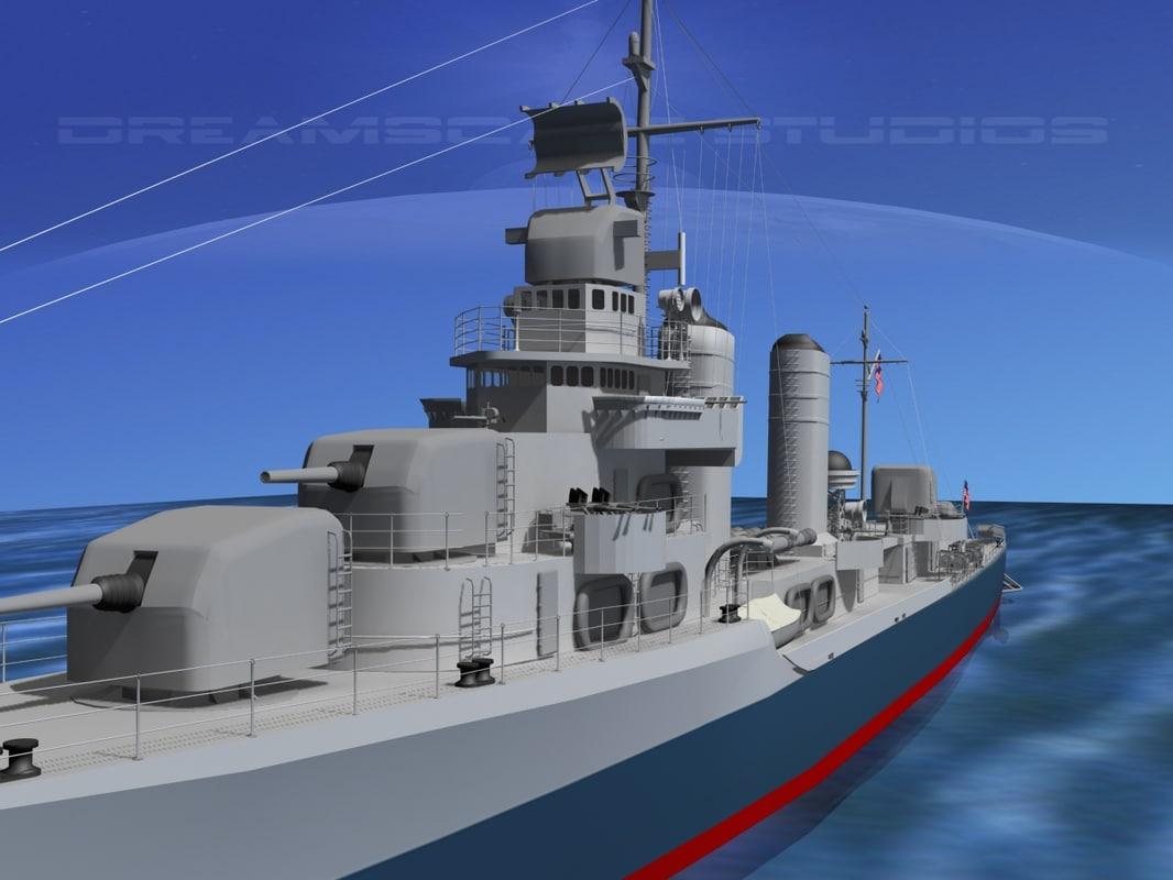 Benson Class Destroyer USS Bailey DD598