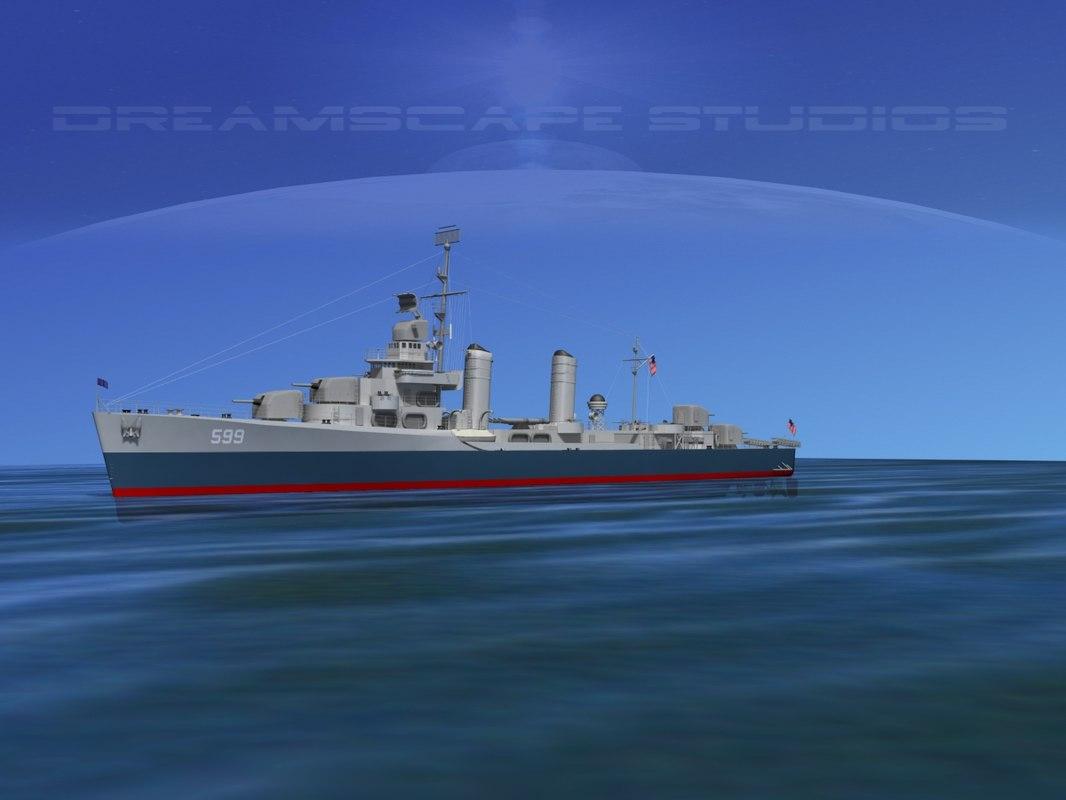 Benson Class Destriyer USS Barton DD599 0001.jpg