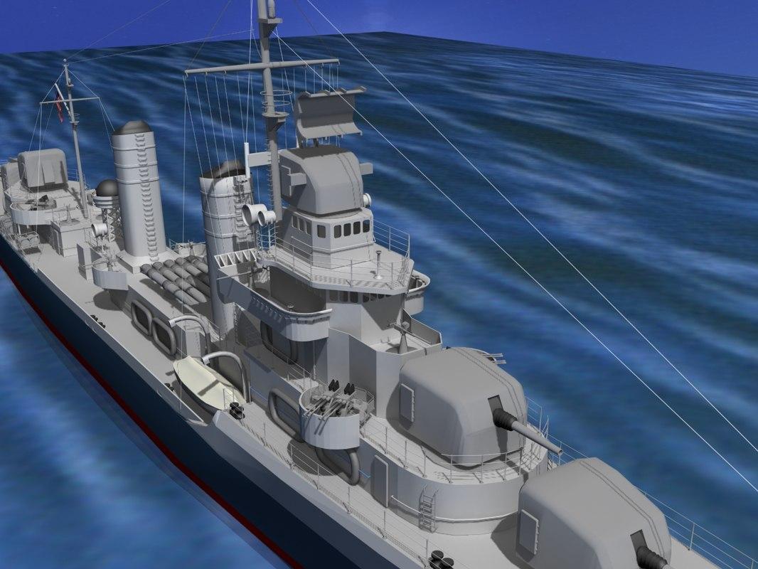 Benson Class Destroyer USS Barton DD599