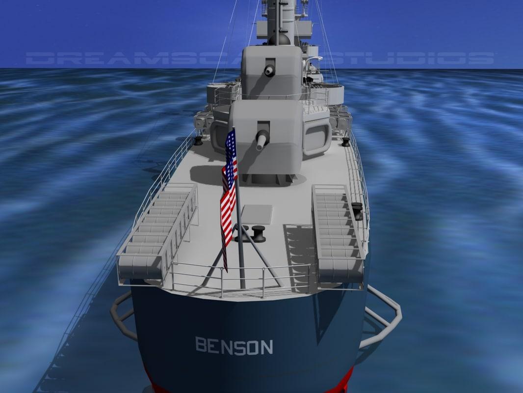 Benson Class Destroyer USS Benson DD421