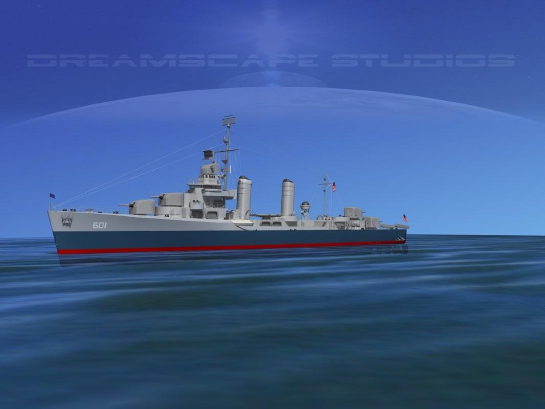 Benson Class Destroyer USS Champlin DD601