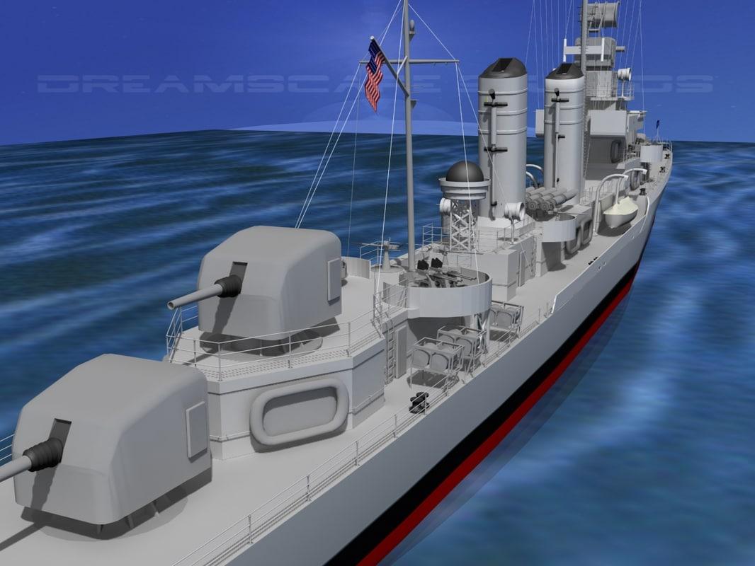 Benson Class Destroyer USS Frazier DD607