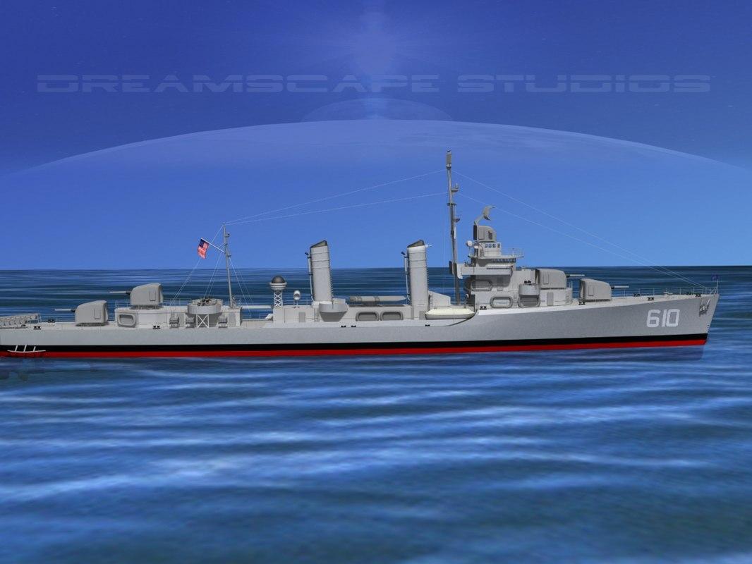 Benson Class Destroyer USS Hobby DD610