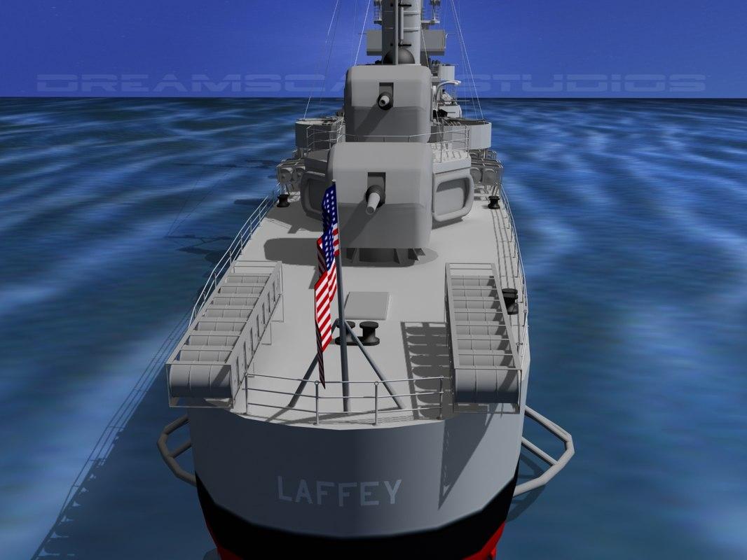 Benson Class Destroyer USS Laffey DD459