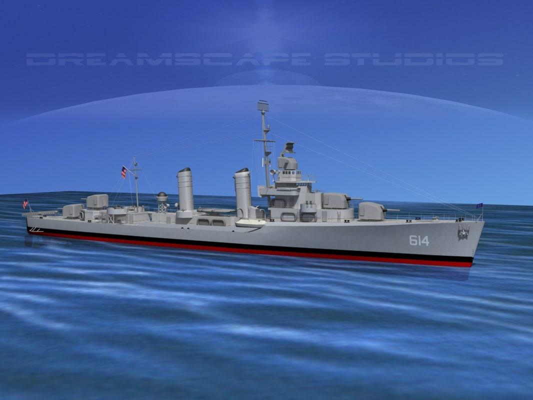 Benson Class Destroyer USS McKenzie DD614