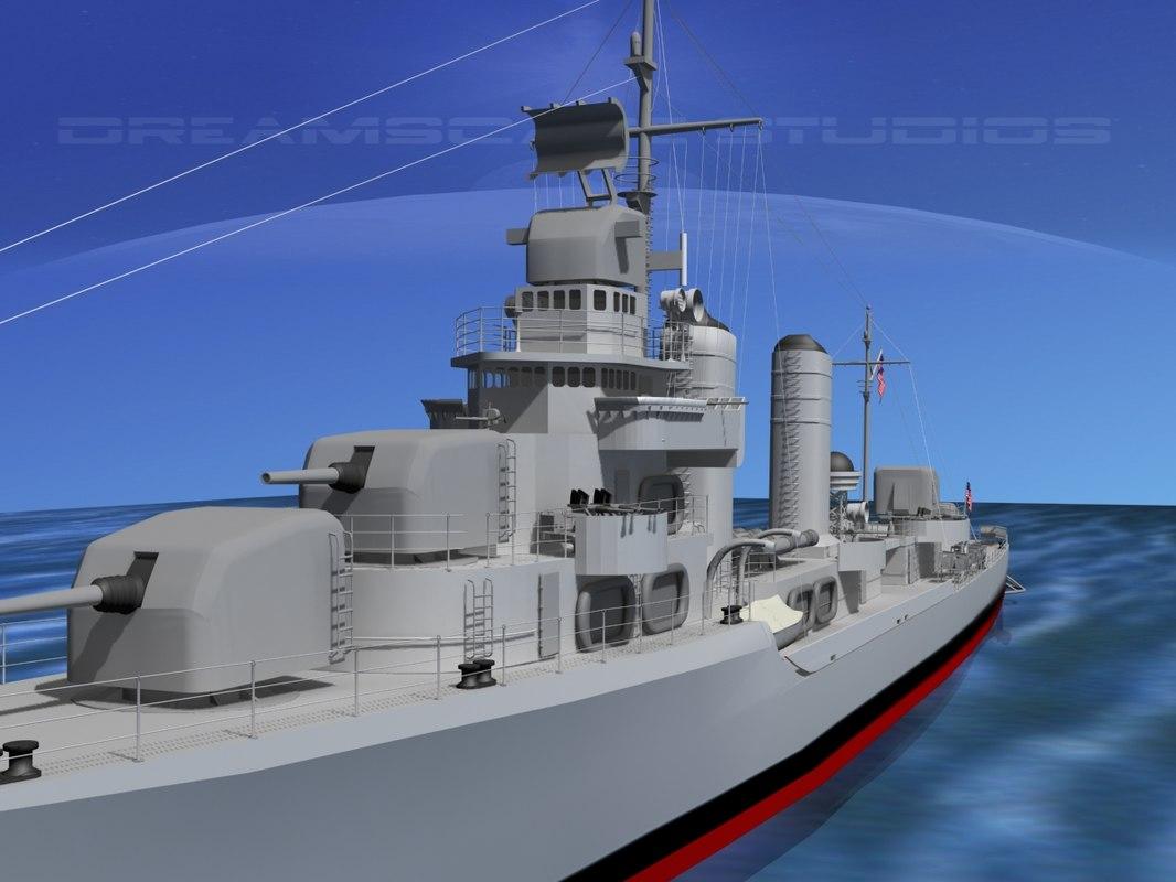 Benson Class Destroyer USS Parker DD604