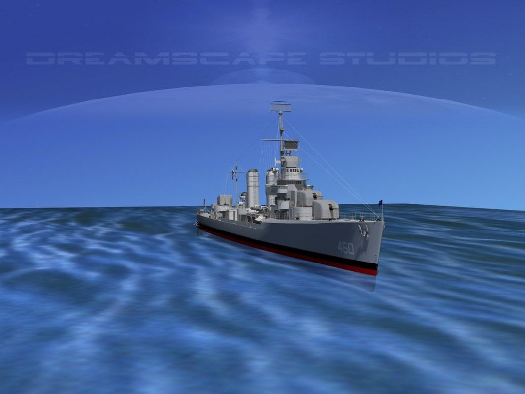 Benson Class Destroyer USS Woodworth DD460