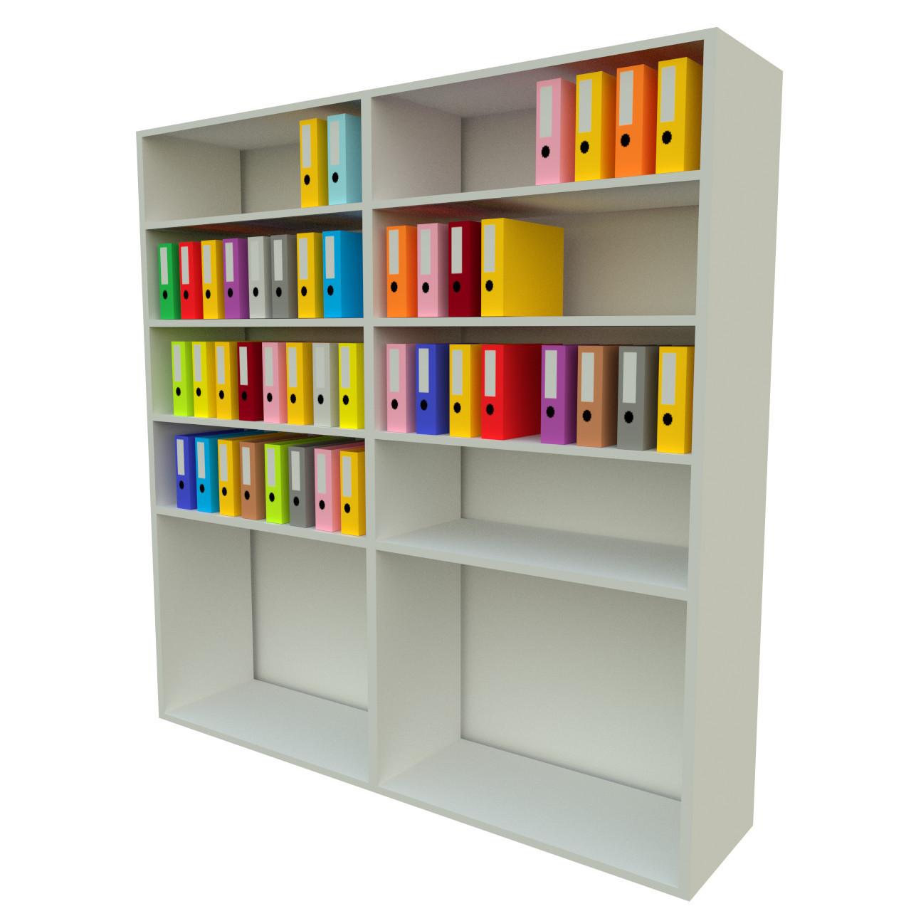 Office Shelf Folders Ring 3d Max