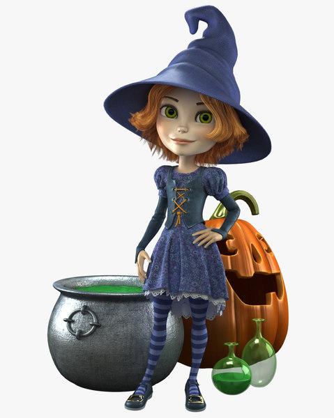 Cartoon Witch 3D Models