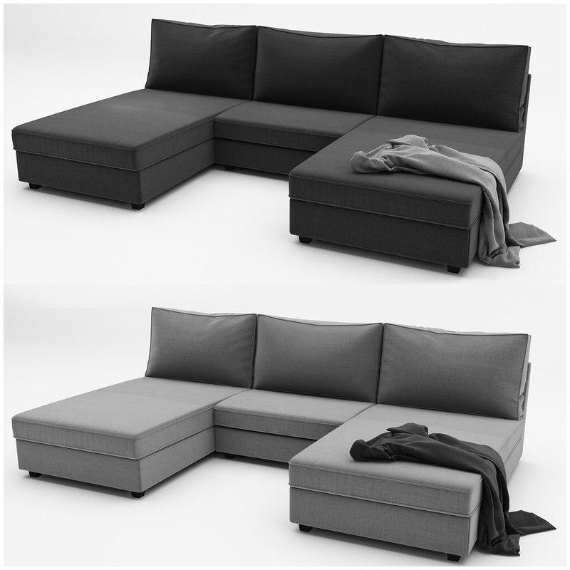 kivik 4 ikea sofa 3d max. Black Bedroom Furniture Sets. Home Design Ideas
