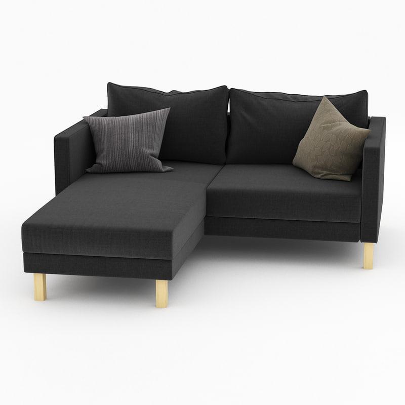 karlstad ikea 3d model. Black Bedroom Furniture Sets. Home Design Ideas
