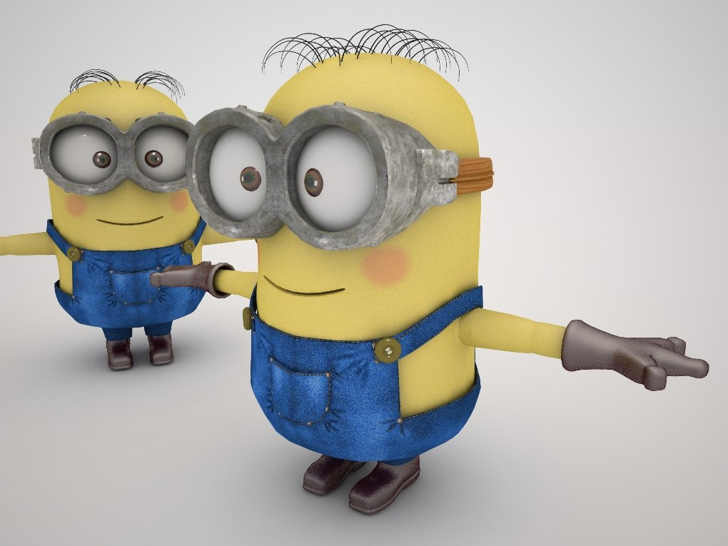 Two Minions - ready for rigging