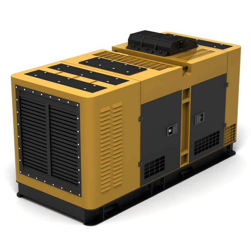 3d Generator Power Machine Model