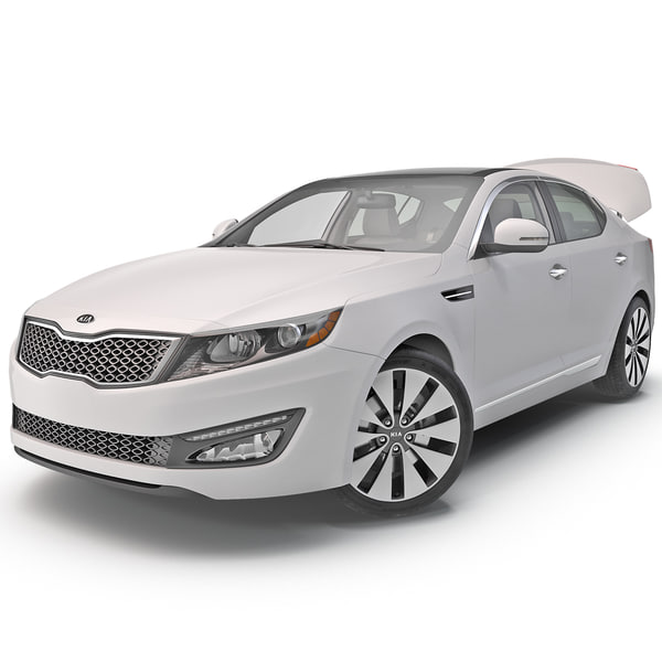 Kia Optima 2014 Rigged 3D Models