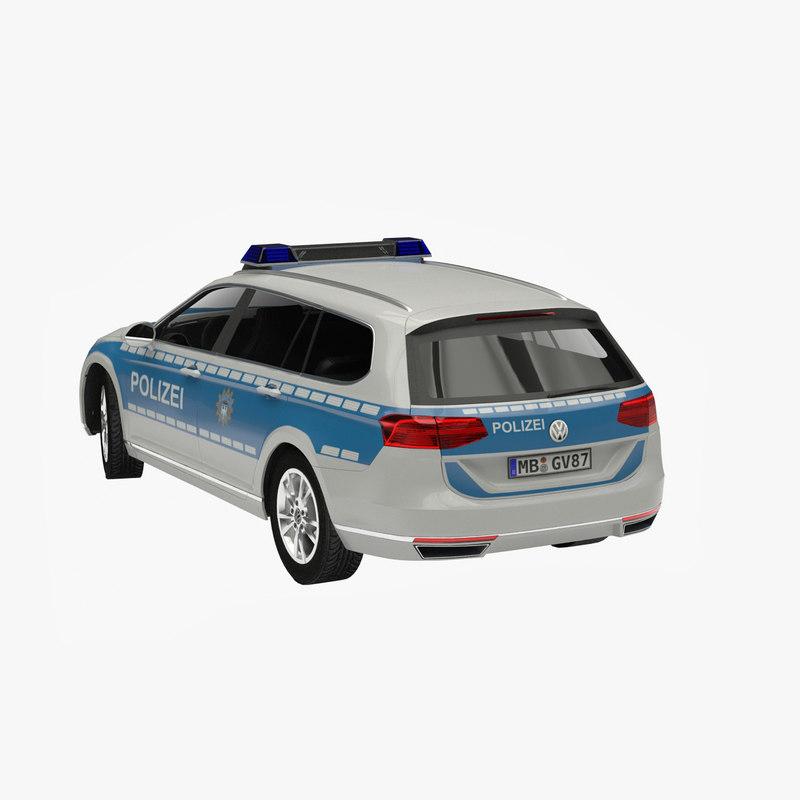 b8 polizei 3d model