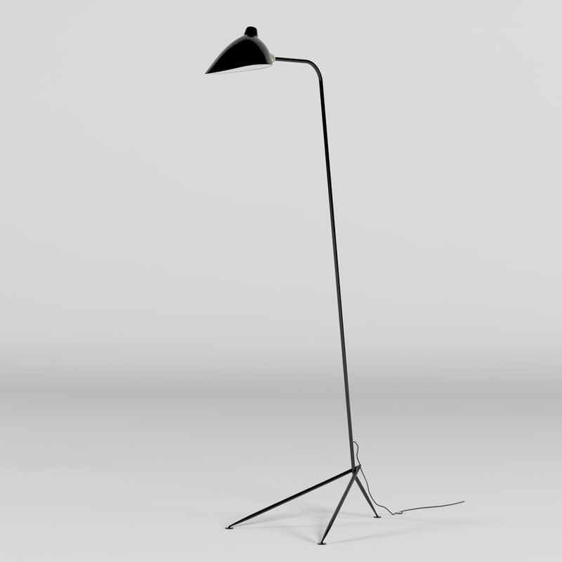 Serge mouille lampadaire light 3d max - Lampadaire serge mouille ...