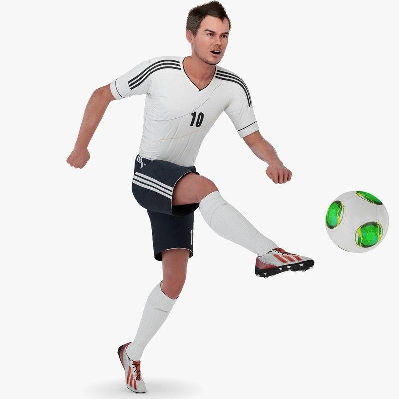 3d soccer player model for 3d models torrent