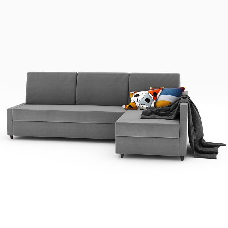 friheten 2 ikea 3d model. Black Bedroom Furniture Sets. Home Design Ideas