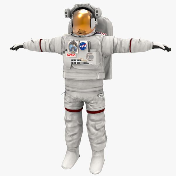 Astronaut Un-Rigged 3D Models