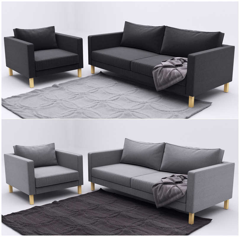 maya ikea karlstad 2 sofa. Black Bedroom Furniture Sets. Home Design Ideas