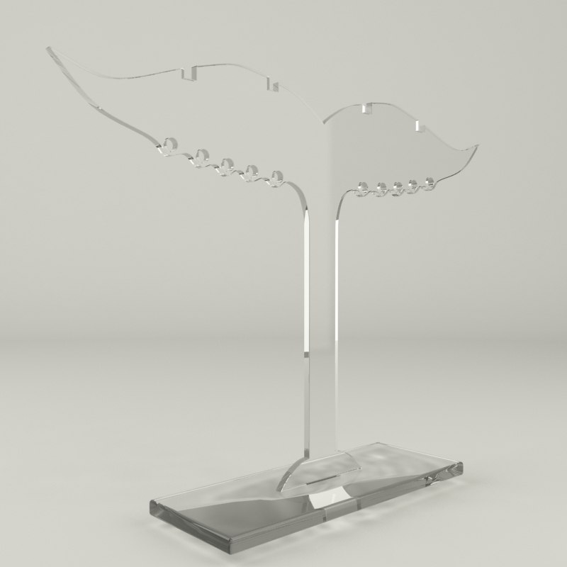 3d acrylic jewelry holder ver2 for Jewelry stand 3d model
