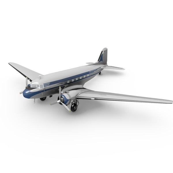DC-3 3D Models