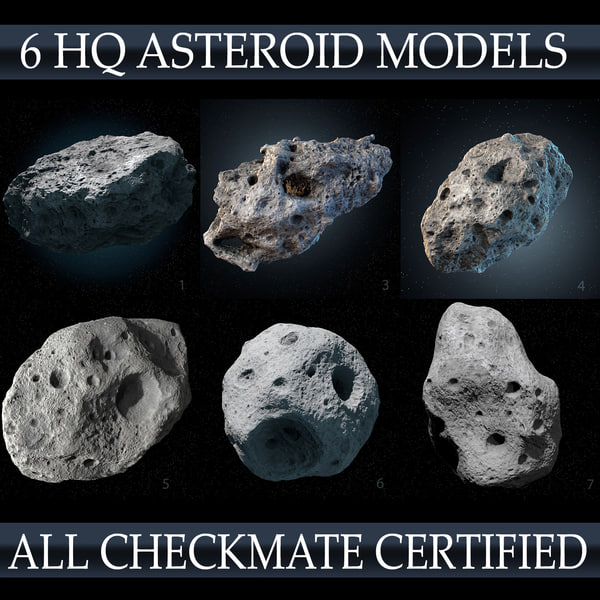 Asteroids Pack Materials & Shaders