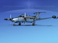 Beechcraft RC-12 3D models