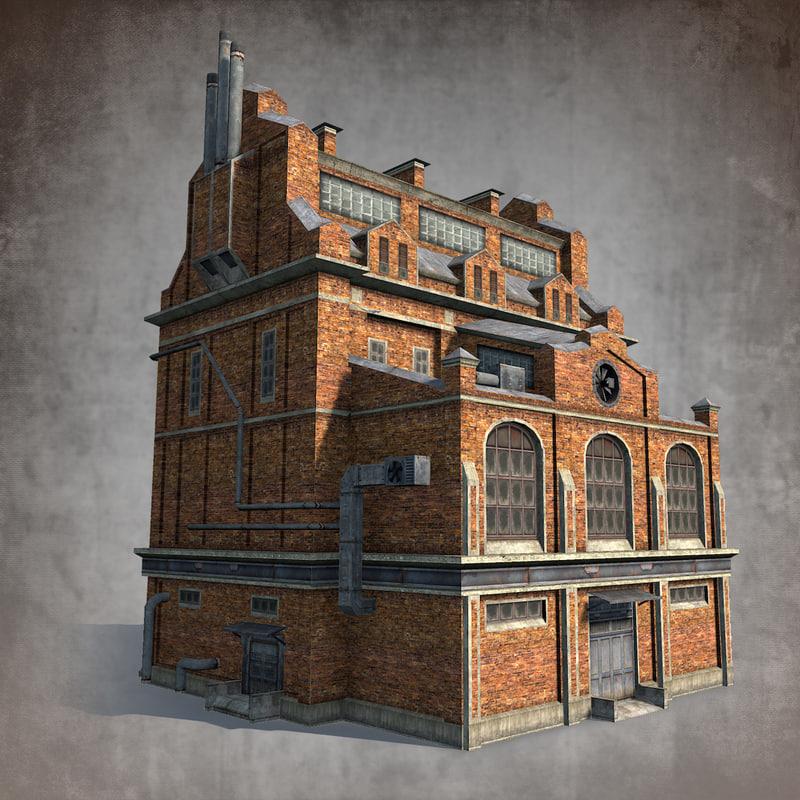 3d Model Brick Factory
