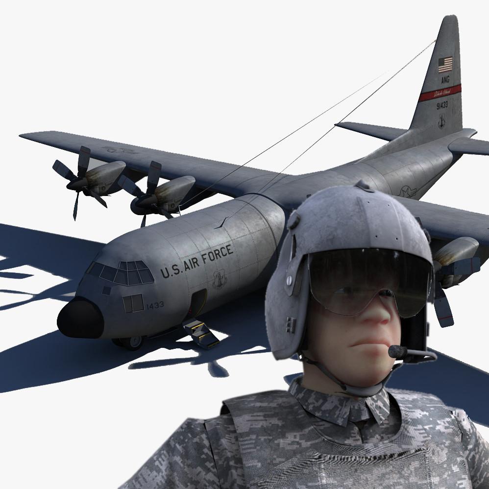 maya c 130 military pilot rig