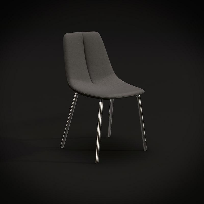 bonaldo met sedie 3d model