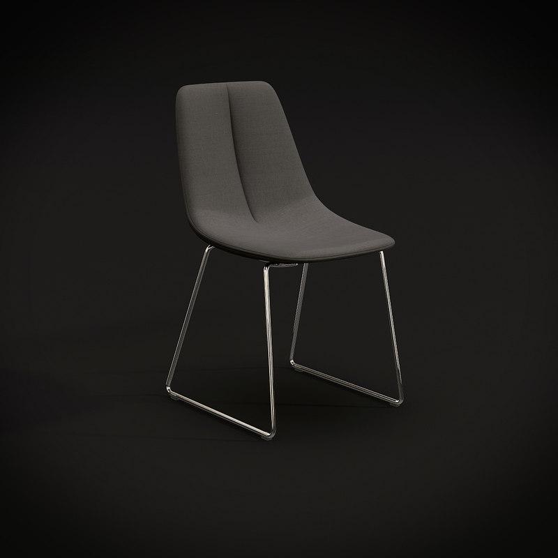 3d model bonaldo si sedie
