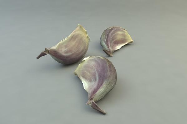 garlic clove 3D Models